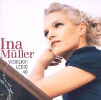 """INA MÜLLER """"WEIBLICH LEDIG 40"""" CD NEUWARE!"""