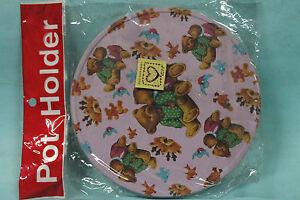 "NOS 6"" Teddy Bear Print Pot Holder"