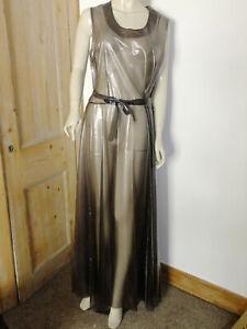 PVC-U-Like PVC Long Black Dress Evening Plastic See Thru Clear XL Gown Roleplay