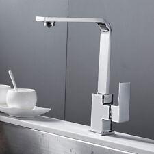 Rubinetto Monocomando per lavello cucina lavabo Miscelatore quadrato in ottone