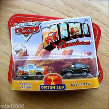 Disney PIXAR Cars MINI ADVENTURES Piston Cup DARRELL CARTRIP & BOB CUTLASS 2Pack