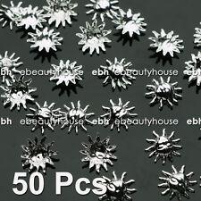 50 Pcs 3D Nail Art Decoration Sun Apollo Alloy Jewelry Rhinestone EG-168A