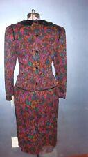 BRAND NEW Albert Nipon 100% Silk Dress, velvet detailing, size 8, made in Korea