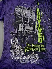 I SURVIVED The Twilight Zone TOWER OF TERROR Ladies T-Shirt XLarge NEW NWT