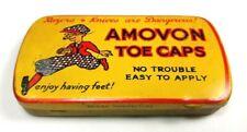 Vintage tin for Amovon Toe Caps: slogan 'Enjoy having feet'