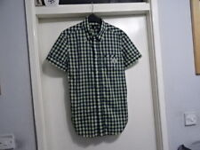 GENTS JUSTCAVALLI MADE IN ITALY DETACHABLE COLLAR CHECKED SHIRT 46 GREAT COND