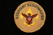 "BOY / CUB SCOUT ""ASSISTANT SCOUTMASTER"" PATCH - EMBROIDERED - TAN - OFFICIAL BSA"