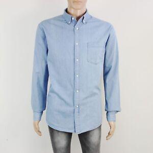Uniqlo Mens Size XL Blue Long Sleeve Cotton Shirt