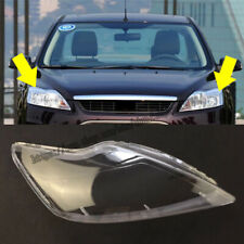Fit For Ford Focus 2009-2011 Headlight Headlamp Clear Lens Cover Left+Right 2pcs