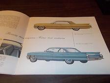 1962 Cadillac 22-Page Sales Catalog