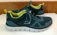 Skechers Track Bucolo 52630 Men's Size 12 Gray Lime Sneakers Shoes