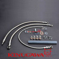 Kinugawa Turbo Oil & Water Line Nissan RB30 VL w/ Factory T3 (18mm Water bolt)
