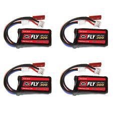 Venom Fly 30C 2S 300mAh 7.4V LiPo Battery with JST and E-flite PH Plug x4 Packs