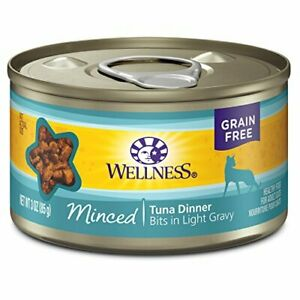Natural Grain Free Wet Canned Cat Food Minced Tuna 3-Ounce Can (Pack of 24)
