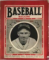 February 1938 Baseball Magazine Gee Walker White Sox MLB Vol.LX NO.3