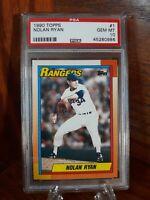 1990 Topps Nolan Ryan #1 HOF Texas Rangers PSA GEM MINT 10 ⚾️