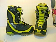 Salomon Synapse Snowboard Boots Custom fit 3D Men Size 8.5 42 Black Yellow snow