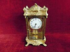 Antique Seth  Thomas Crystal Regulator Clock Gilded Beveled Glass
