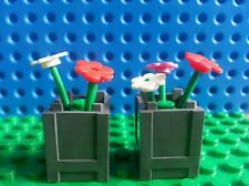 LEGO Dark Bluish Grey Plant Boxes Flowers x2 Trees Creator City Friends Belville