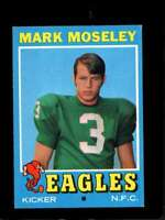 1971 TOPPS #257 MARK MOSELEY EXMT RC ROOKIE EAGLES  *X3544