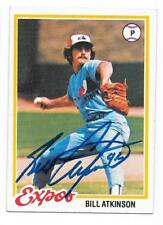 BILL ATKINSON 1978 TOPPS AUTOGRAPHED SIGNED # 43 EXPOS