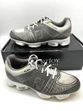 New listing FootJoy FJ Hyperflex Mens 8.5 W Silver Golf Shoes Soft Spikes 51036 8 1/2 Wide
