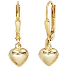 Kinder Boutons Herz 333 Gold Gelbgold Ohrringe Ohrhänger