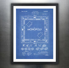 """MONOPOLY POSTER Board Game Blueprint US Patent Poster Print 18x24"""" Reproduction"""