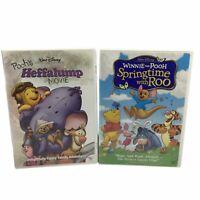 Walt Disney Winnie the Pooh DVD Lot of 2 Heffalump Movie Springtime with Roo