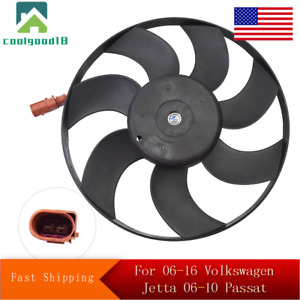 A/C Condenser Cooling Fan For 2006-2016 Volkswagen Jetta 2006-2010 Passat Right