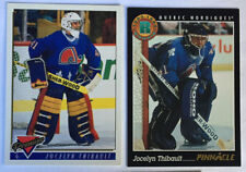 2 Jocelyn Thibault RCs 1993-4 Pinnacle Canadian #440 & Premier #393 Quebec Nord