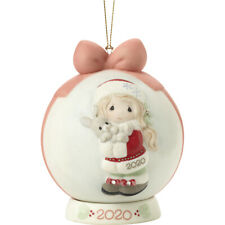 Precious Moments Every Bunny Loves A Christmas Hug Dated Girl Ball 2020 Ornament