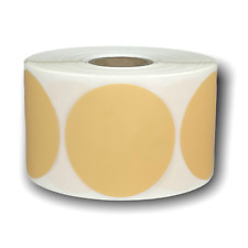 Beige Direct Thermal Shipping Zebra Compatible Labels 225 Round 1 Roll