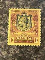 GAMBIA POSTAGE & REVENUE STAMP SG120 1/- 1922-9 LIGHTLY MOUNTED MINT