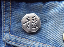 Chinese Year of the Dragon Pewter Pin Badge