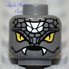 NEW Lego Gray Snake Monster MINIFIG HEAD - Halloween Ninjago Snike Devil w/Fangs