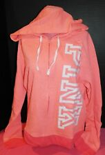 Victoria's Secret PINK Perfect Full-Zip Hoodie *N w/o T* Orange (Coral) *Large