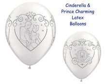 Cinderella & Prince Charming Latex Balloons Wedding Decor Princess Elegant 25pc