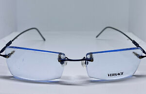 Versace Rimless EyeGlasses M45 82M Blue NEW