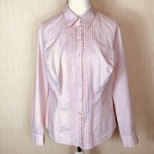 British Pepperberry Super Curvy Pinstripe Button Fitted Work Blouse Size 18 UK
