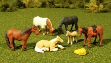 O Scale - 6 Horses (5 Adult, 1 Young)  - BAC-33169