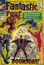 Fantastic Four # 59 w The Inhumans! Movie soon NM (8.5-9.0) Doomsday! Marvel Key
