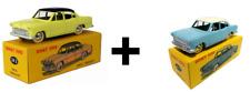 Lot de 2 DINKY TOYS Simca Versailles bleue et jaune - DeAgostini Atlas  24Z