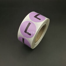 500 Apparel Clothing Size Stickers L Size Purple Color Coded Adhesive Labels