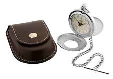 Jean Pierre Chrome Plated Half Hunter Pocket Watch with Alarm, ref D8