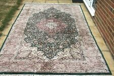 £6000 pure silk Persian Heriz pattern kashmir hand knotted rug 285 x 190