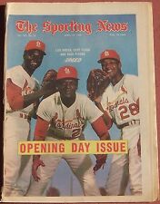 4-12-69 SPORTING NEWS ANNUAL BASEBALL SEASON OPENER ISSUE CARDINALS ON COVER