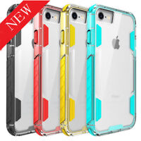 For iPhone /7/8/X 8 Plus Shockproof Soft PC+TPU Hybrid Clear Case Slim Cover AA