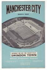 1964/65      Man City 1    v     Swindon Town 2     Excellent