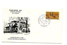 Canada FDC #854 Special Cover Eldon House London Historical Series 1980 G284